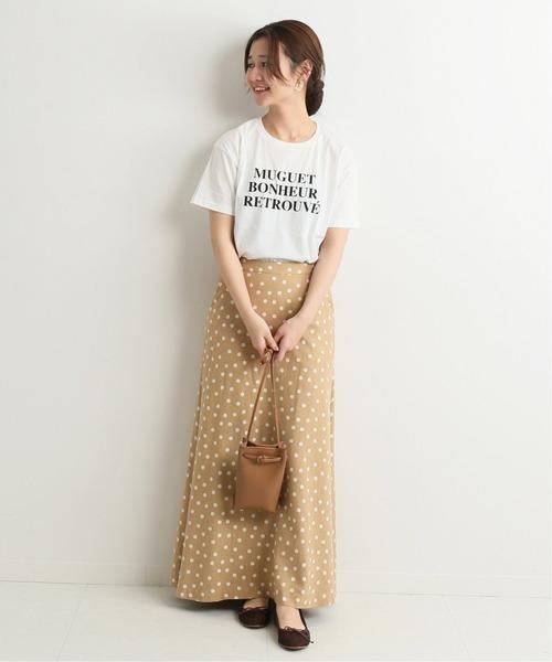 [IENA] fleursロゴTシャツMuguet◆