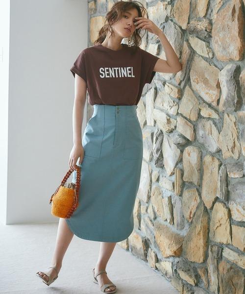 [BABYLONE] シャツテールタイトスカート