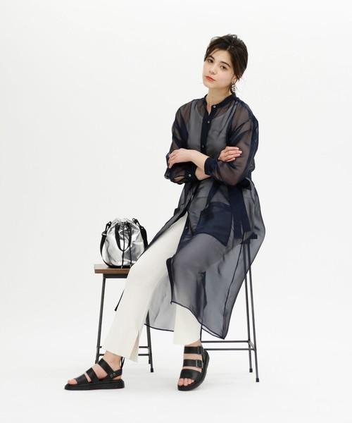 [CAST:] 【WEB限定】シースルーシャツドレス