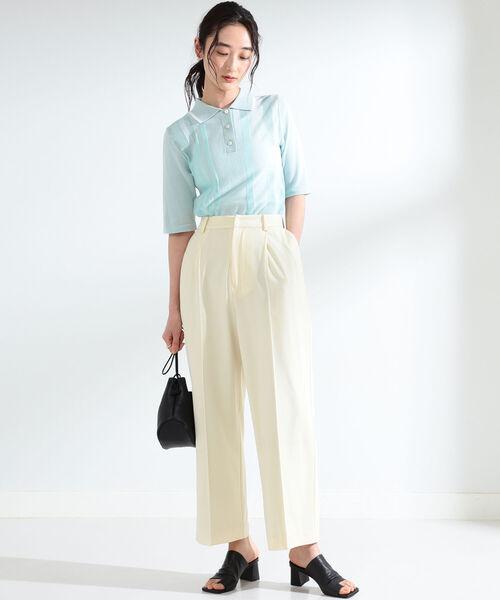 シンプルポロシャツのおしゃれな夏コーデ