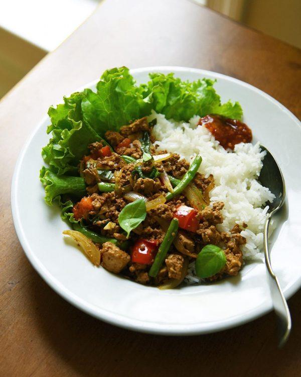 豆腐で作るガパオライス