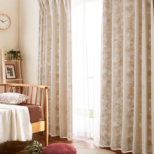 風水で選ぶ北側のベージュ色のカーテン