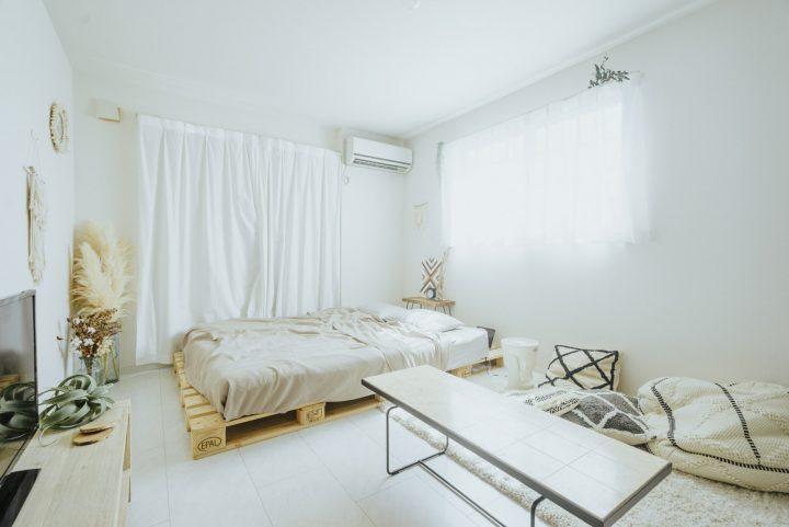 BOHOスタイルのベッドルーム・インテリア