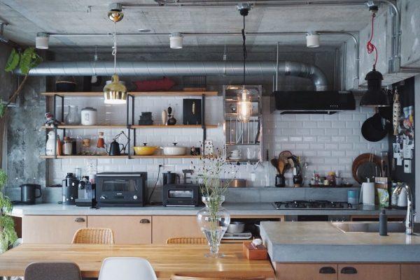 見せる収納がお洒落なキッチンインテリア
