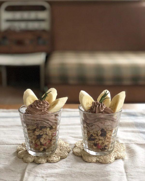 お手軽&美味しいミニチョコバナナパフェ
