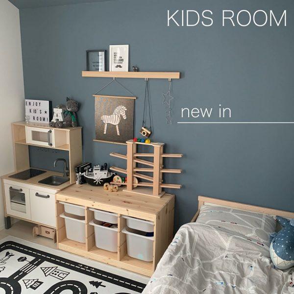 ベッドルームのアクセントクロス実例2