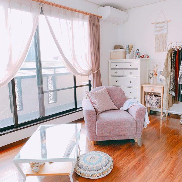 ソファが主役な一人暮らし部屋