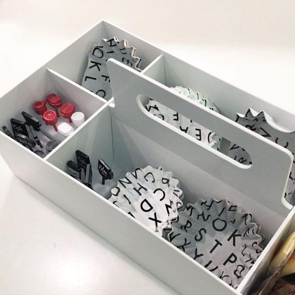 ランチグッズを仕分けしやすい収納キャリーボックス