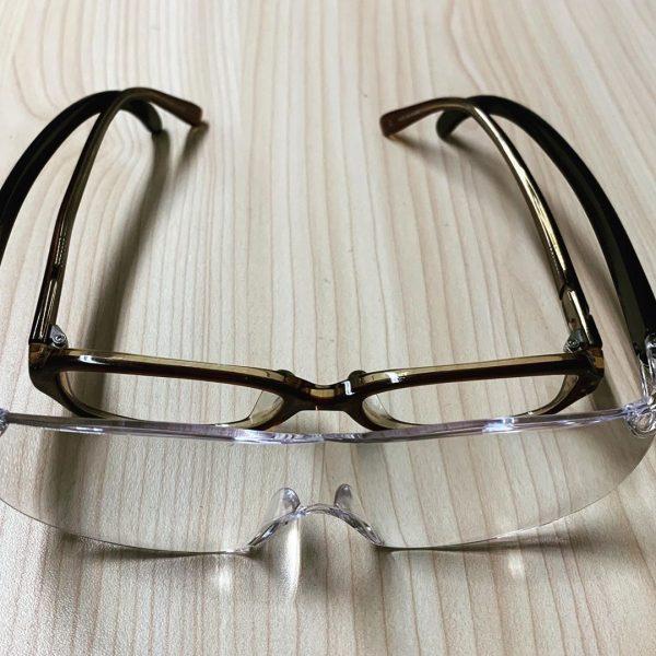メガネの上から使えるメガネ型拡大ルーペ