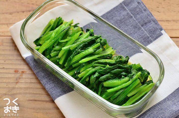 大量消費に人気!小松菜のわさび風味おひたし