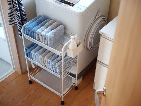 洗面所で便利なIKEAのスマートワゴン
