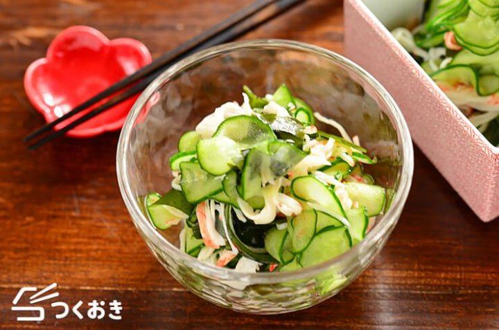 おつまみレシピ!きゅうりとカニかまぼこ酢の物