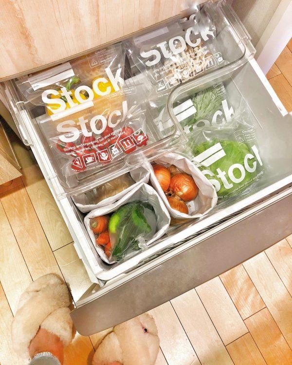 野菜室 整理整頓 アイデア3