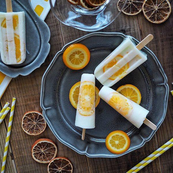 輪切りオレンジが可愛いアイスバー