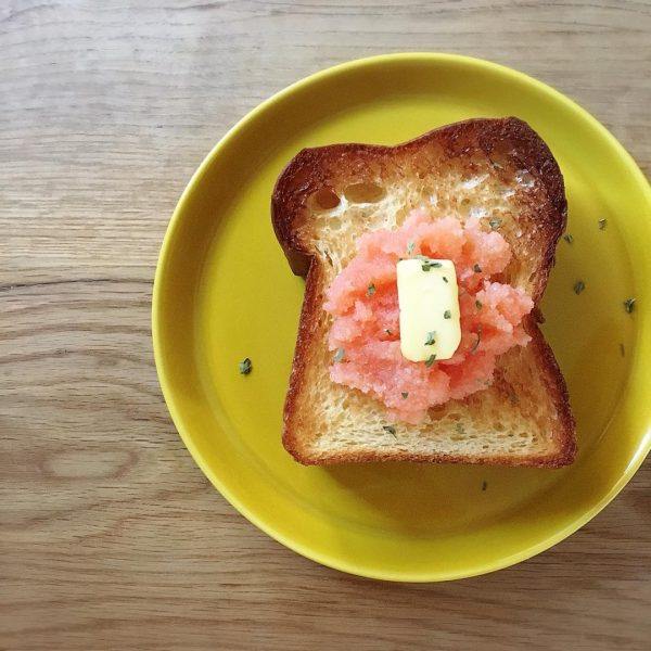 トースト アレンジ たらこ&バター