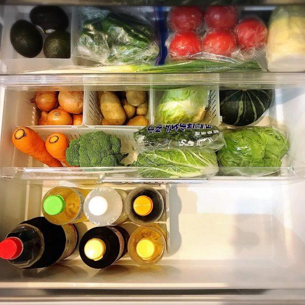 野菜室 整理整頓 アイデア4