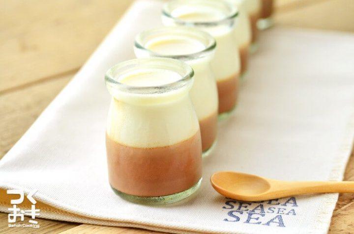ピクニックに!美味しい牛乳ココアプリン