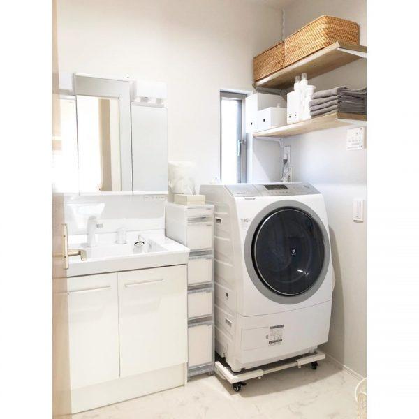 シンプルで使い勝手の良い洗面所