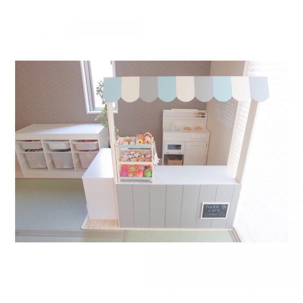 カラーボックスのキッチン