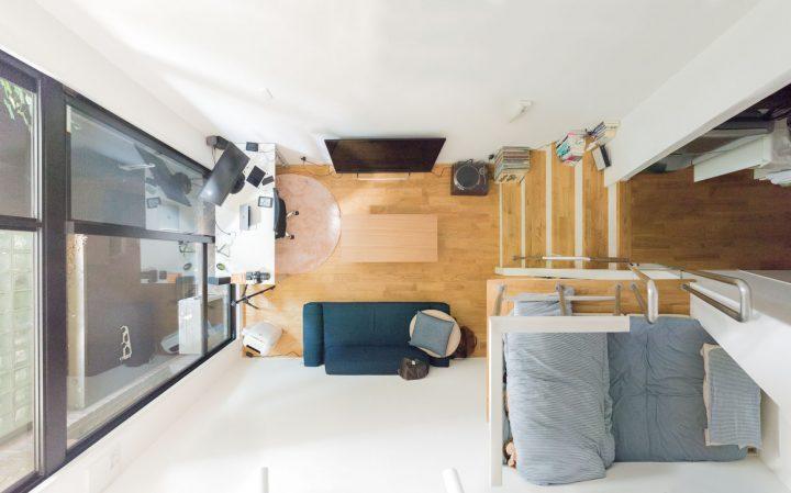 天井高3600mmのロフトつきワンルーム