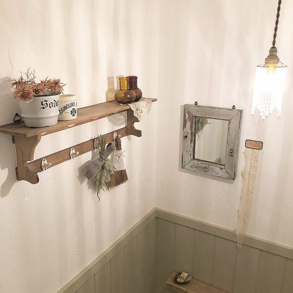 トイレ 壁面 インテリア おしゃれ6