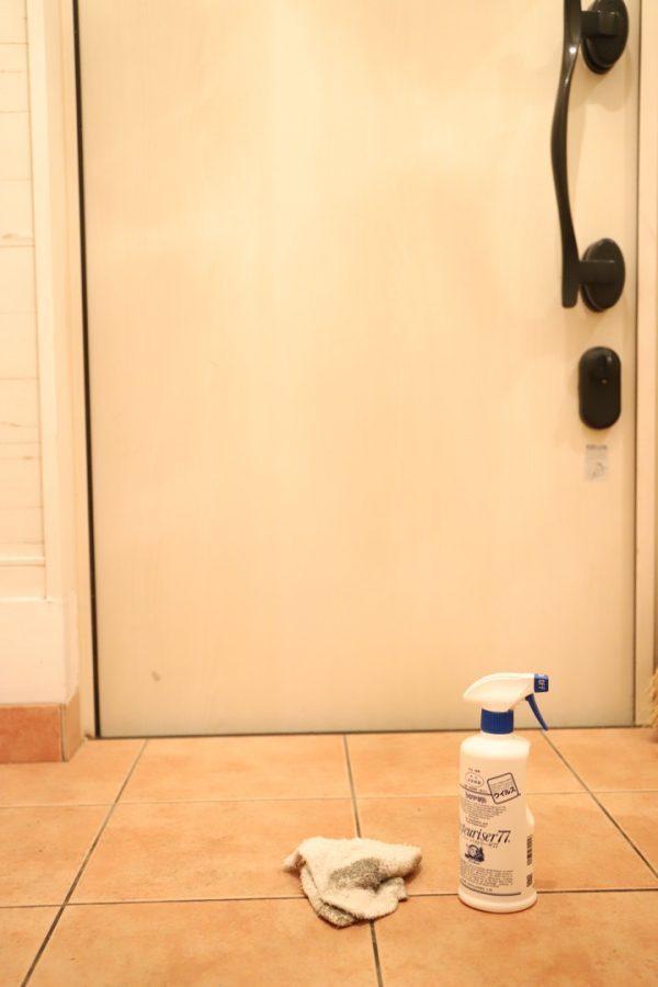 小まめな拭き掃除には洗剤と雑巾