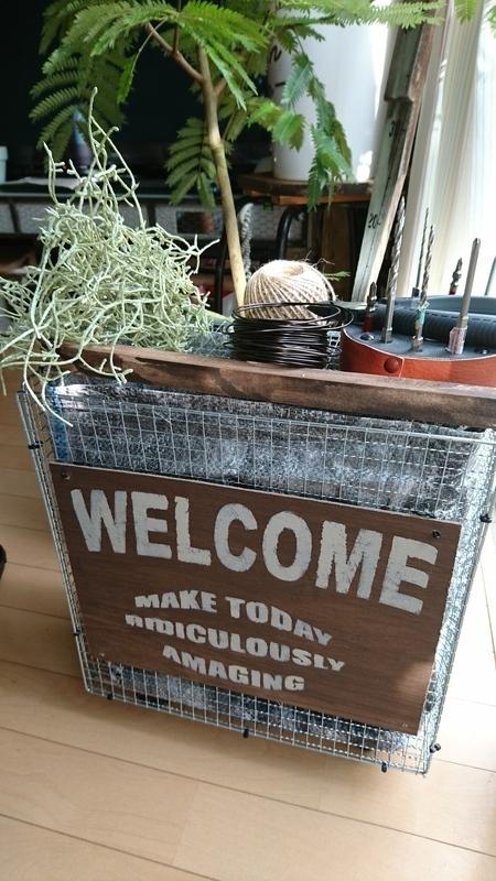 ワイヤー網の手作りゴミ箱