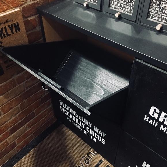 カラーボックスの引き扉式手作りゴミ箱