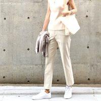 白スニーカーの夏コーデ【2020最新】大人っぽい着こなしを一挙大公開♪