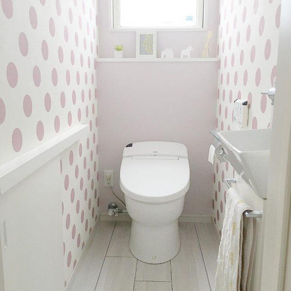 トイレのアクセントクロス実例