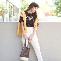 茶色Tシャツのレディースコーデ【2020最新】大人のきれいめな着こなしをご紹介