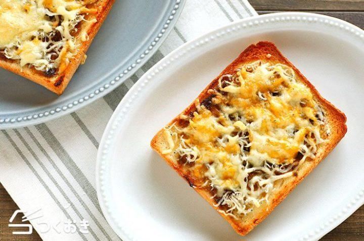 大量消費に人気!簡単しらすのりチーズトースト