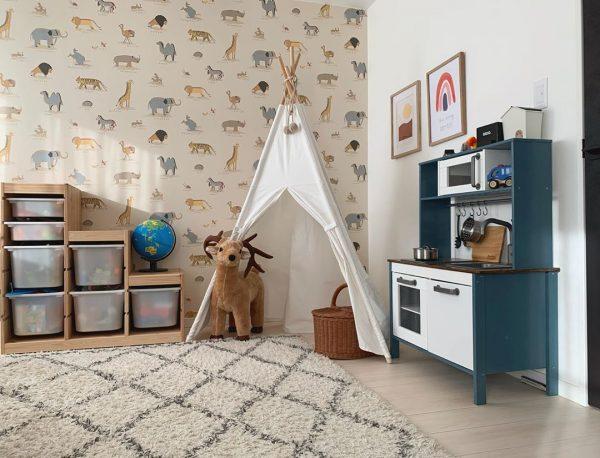 ティーピーテントとコラボした可愛い子供部屋