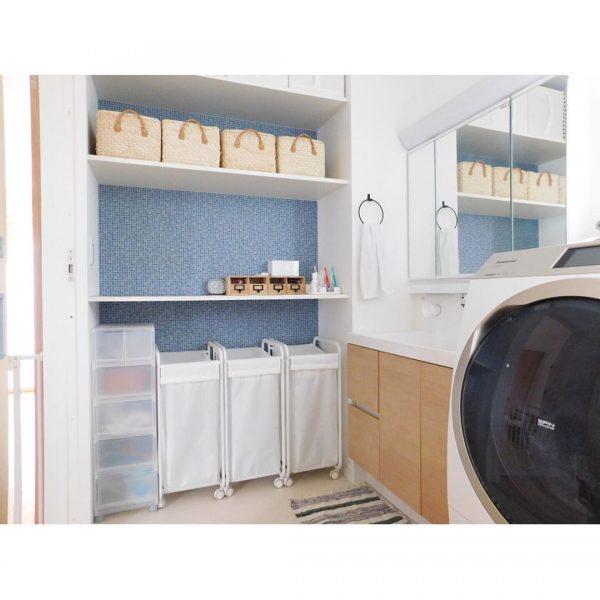 洗面所をクールにするIKEAの収納
