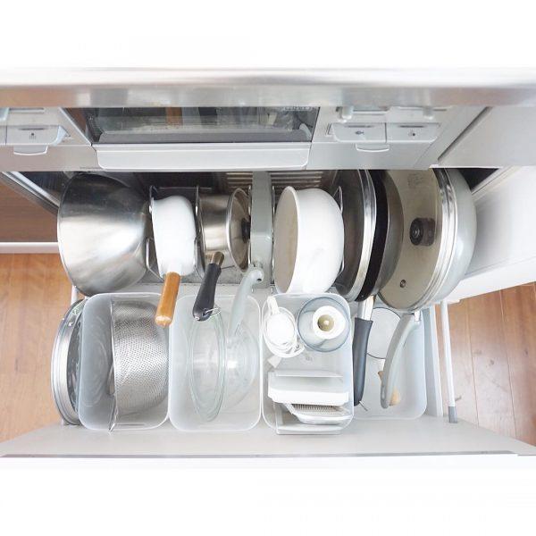 ダイソーグッズを使ったキッチンの調理器具収納4