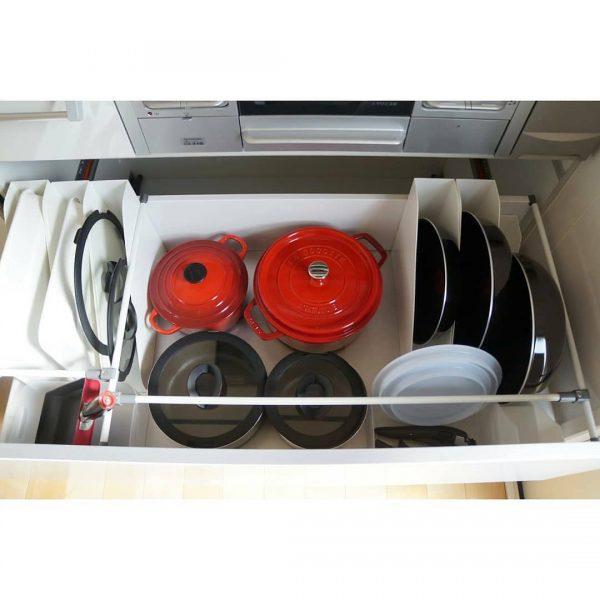 ダイソーグッズを使ったキッチンの調理器具収納2
