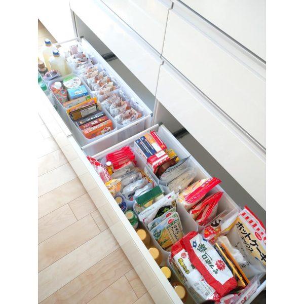ダイソーグッズを使ったキッチンの食品収納