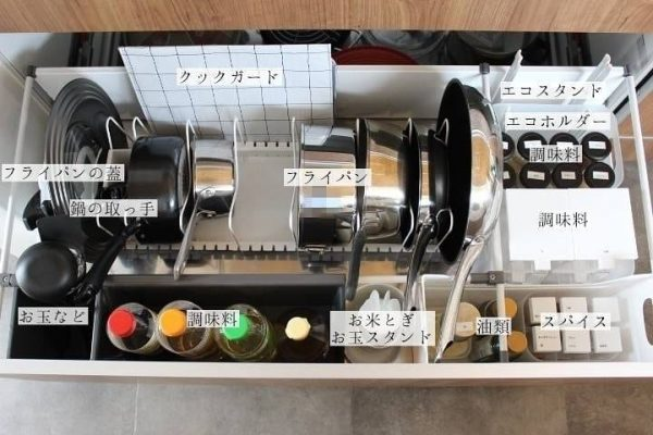 ダイソーグッズを使ったキッチンの調味料収納3