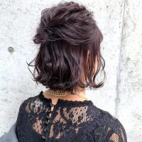 ショートボブ×ハーフアップ特集♡自分で簡単にできる大人可愛いヘアアレンジをご紹介