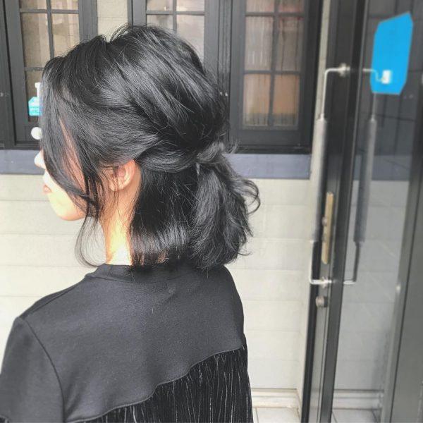黒髪ボブアレンジ3