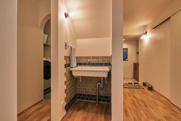 お客様にも使ってもらえる手洗いスペース