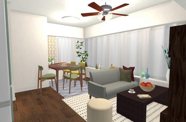 一人暮らし 9畳 家具 レイアウト10