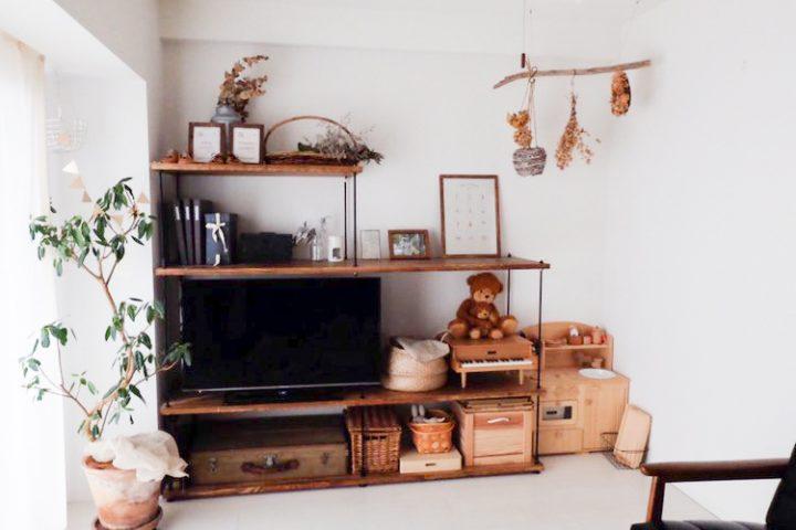 DIYの家具がぴたりとフィット
