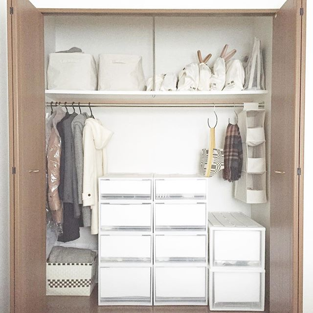 洋服の収納アイデア《クローゼット》