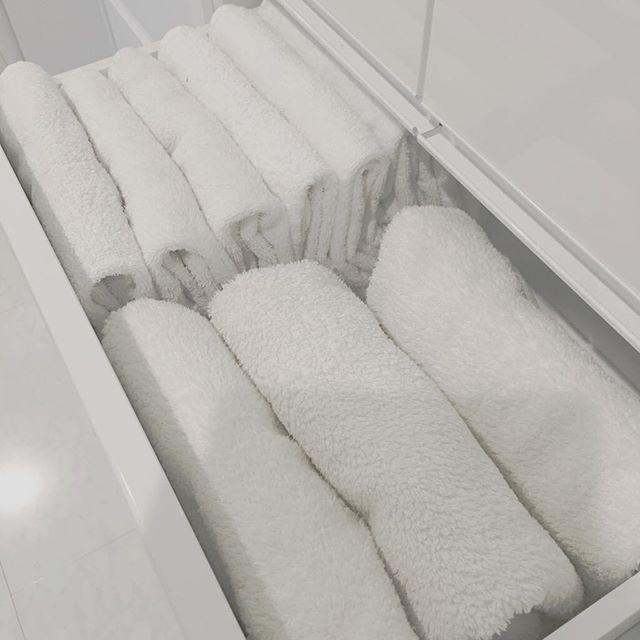 引き出しで大容量のタオル収納方法