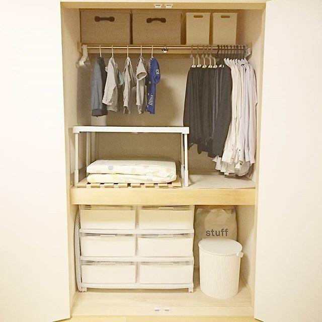 洋服の収納アイデア《押入れ》4