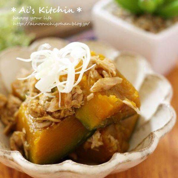 中華風かぼちゃ料理!ツナかぼちゃ煮