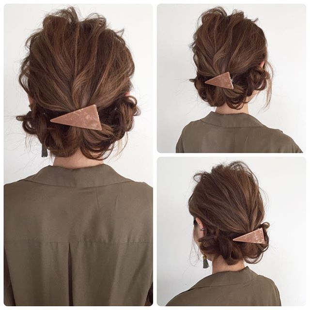 ミディアムの編み込みヘアアレンジ《アップ》5