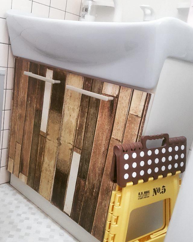 賃貸DIY!100均で洗面所リメイク