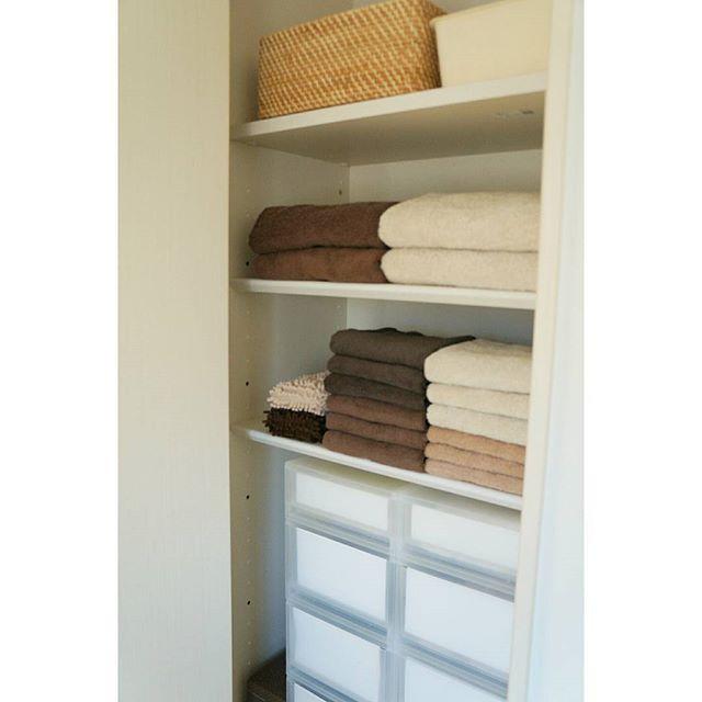 そのまま置けるタオルの収納方法3
